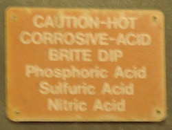 acid warnings