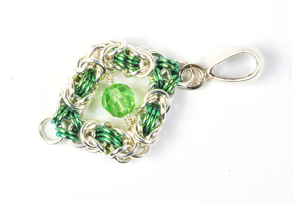Floating Bead Pendant - chainmaille