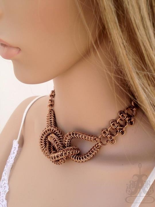 Knotted Chainmaille Statement Necklace