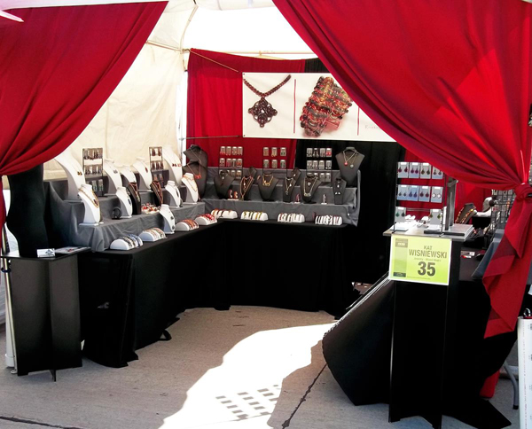 Craft show jewelry booth display ideas car interior design for Craft fairs in ct december