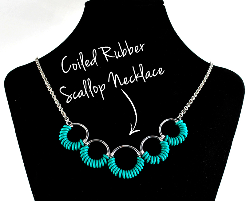 CoiledRUBR-necklace-arrow