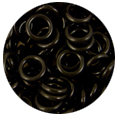 Black Rubber Jump Rings