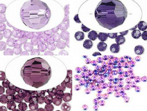 Pantone Radiant Orchid inspiration beads and crystals