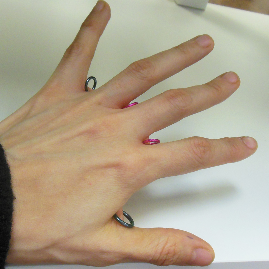 Fauxcings allow you to sport jewelry in places that typically aren't good for permanent piercings, such as your hand webs.