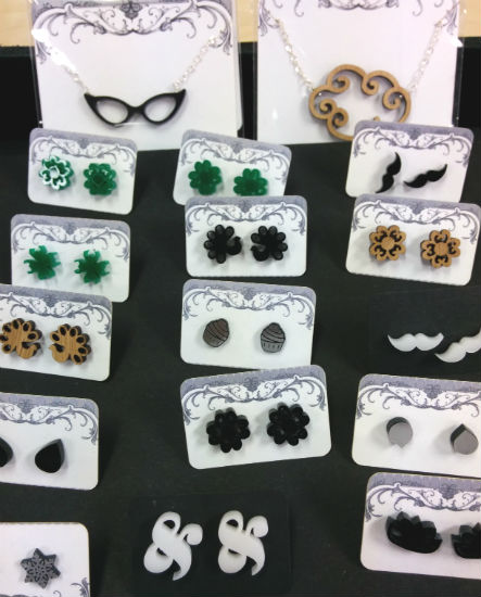 Lasercut Jewelry by Isette (featured at the Blue Buddha Artisan Market)