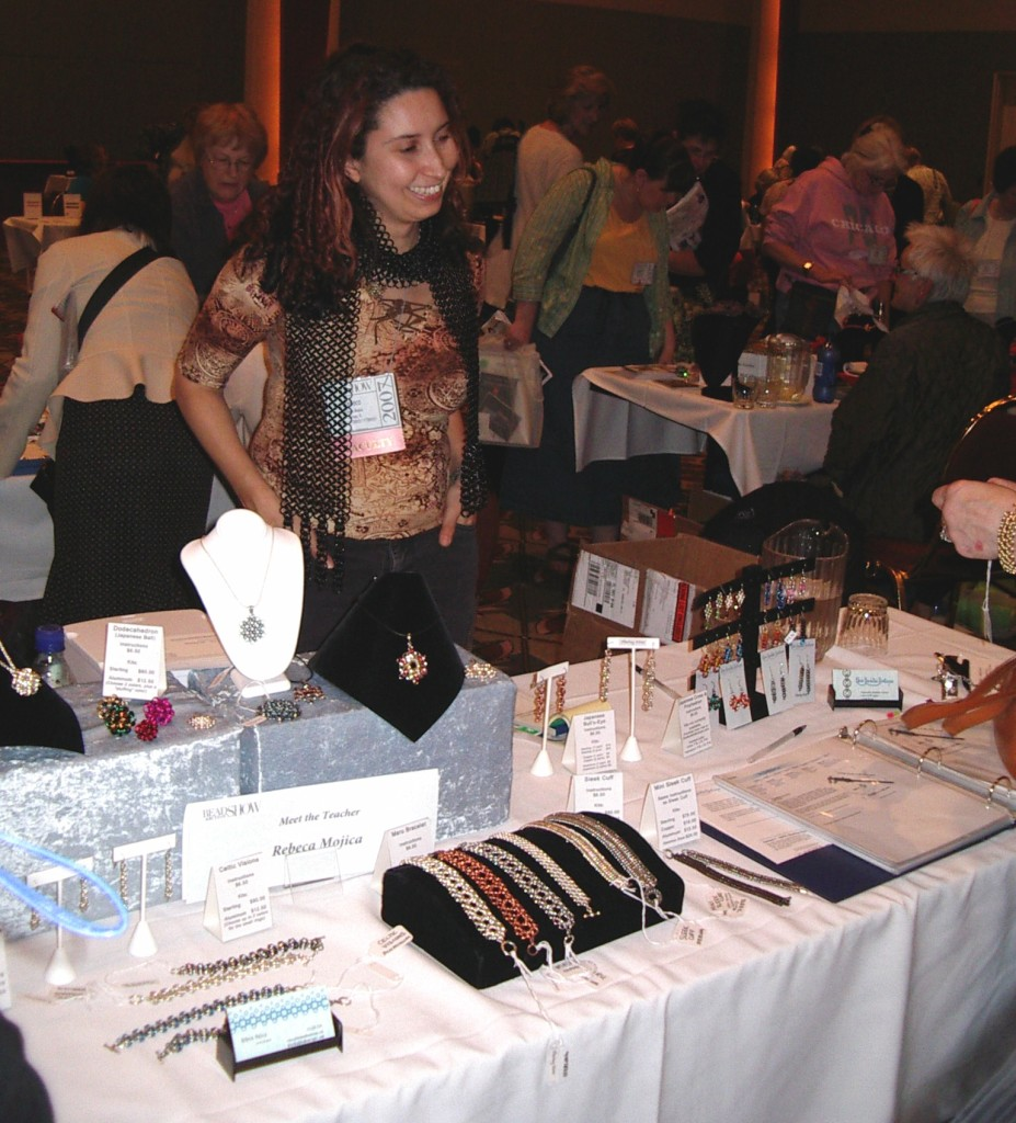 Rebeca at her first Meet the Teachers at the 2007 Bead&Button show!