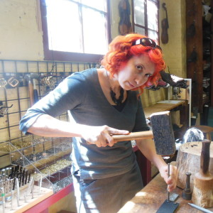 jewelry making hammering holes in leather