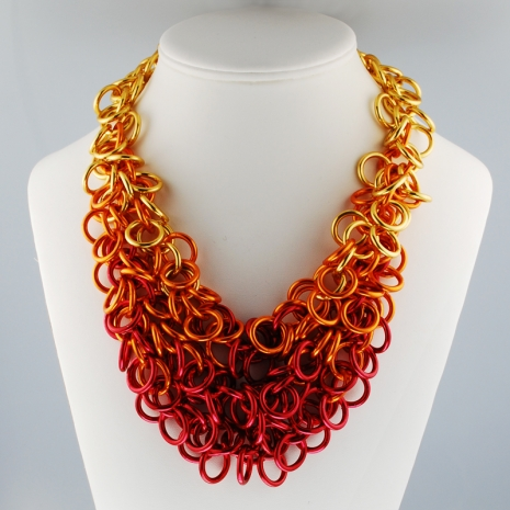 fiery necklace chain mail