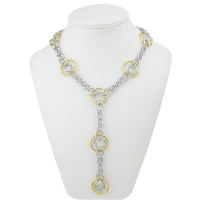 Just One Ring necklace in aluminum and gold aluminum
