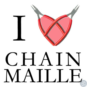I love making chainmaille graphic with heart made of pliers