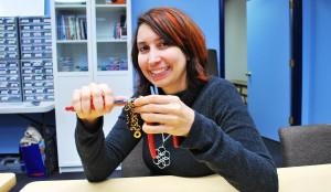 rebeca mojica making chain maille