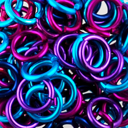 berry anodized aluminum jump ring mix