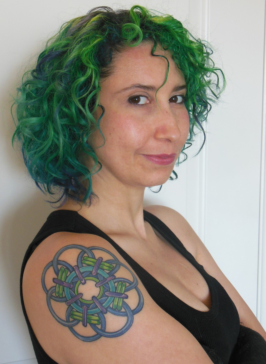 chainmaille shoulder tattoo