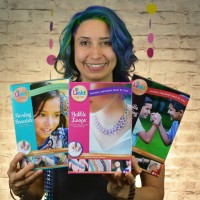Rebeca Mojica with 3 Linkt Craft Kits boxes