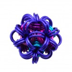 purple, pink and turquoise dodecahedron