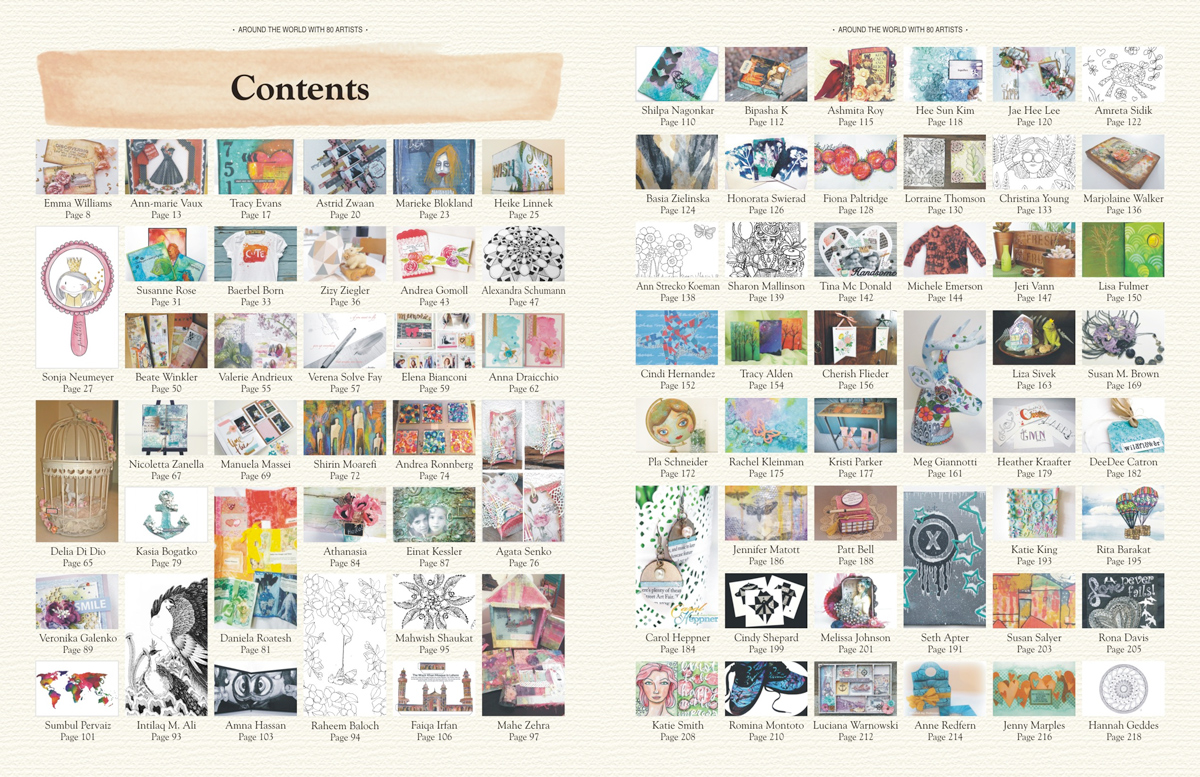 Table of Contents for Around the World With 80 Artists - DIY Crafts Projects