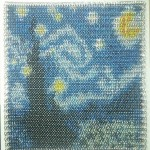 starry night chainmaille inlay by tony moeller