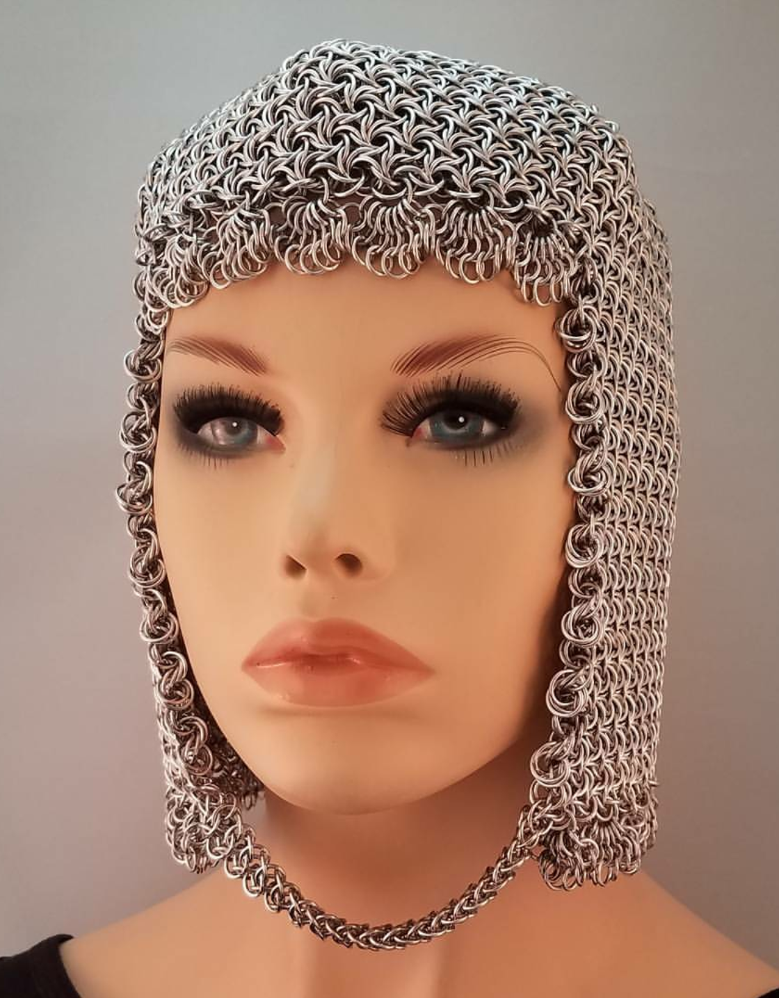 moorish rose chainmaille coif by Lisa Ellis