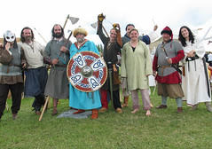 group of people wearing 8th century garb