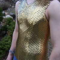 gold scalemaille vest by Eric Matwe (lorenzo)