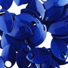 blue anodized aluminum scales