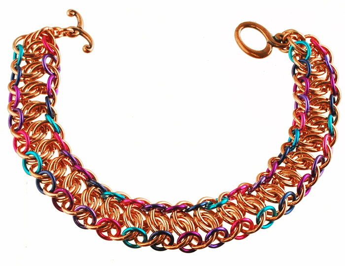 Mngwa chainmaille bracelet in copper