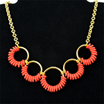 Coiled Rubber Scallop Necklace
