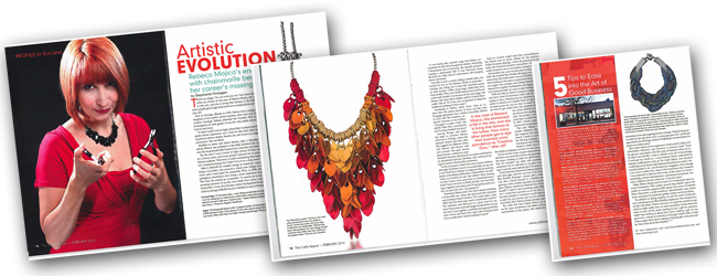 rebeca-mojica-chainmaille-jewelry-in-magazine