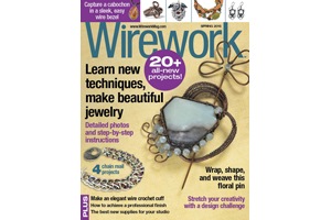 Zeela Bracelet on cover of Wirework Magazine