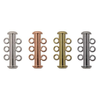 Base Metal Slide Clasps, 3-strand