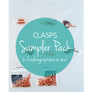 KIT - Clasp Sampler Pack - Silver color/ Rhodium , KIT-SAMPLE-CLASP-SC