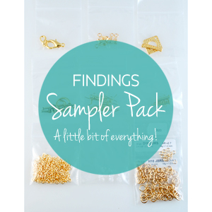 KIT - Findings Sampler Pack - Silver color/ Rhodium Finish, KIT-SAMPLE-FIND-SC