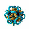 Dodecahedron (Japanese Ball), KIT - Dodecahedron - Anodized Aluminum, chainamille dodecahedron pendant in gold and turquoise jump rings by rebeca mojica