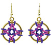Dreamcatcher Earrings, KIT - Dreamcatcher Earrings kit - As Shown Faux gold pink/ purple (6 pack), celtic knot pattern earrings in gold violet and pink