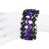 Hex Path Cuff, KIT - Hex Path Cuff Anodized Aluminum w/ Rubber - Black & Purple, rubber chainmaille cuff