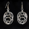 Illusion Loops Earrings, KIT - Illusion Loops Earrings - Aluminum, silver hoop earrings on black background