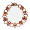 Japanese Cross Bracelet, KIT - Japanese Cross - Bracelet - Copper, copper japanese cross bracelet by rebeca mojica