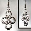 Japanese Cross & Polyhedron Earrings, KIT - Japanese Cross & Polyhedron  - Earrings - Aluminum, 2 pairs