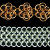 Mesh and Rosettes, KIT - Mesh & Rosettes - Aluminum, european 4-in-1 in aluminum and rosettes copper chain mail weave