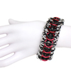 Rubber Interwoven 4-in-1, KIT - Large Rubber Interwoven 4-1 Black Rubber w/ Plain Alum + Red AA, interwoven 4-in-1 rubbermaille cuff