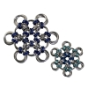 Snowflake, KIT - Snowflake - Medium Aluminum w/ Ice, Peacock, & Royal Blue EC ,