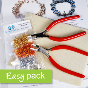KIT - All-in-One, Easy Start to Chainmaille Pack - Warm Colors - Right Hand, KIT-EZ-START-WARM-R