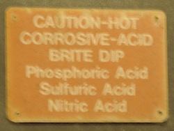 acid warnings