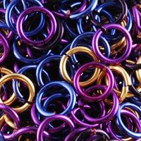 enameled copper jump rings