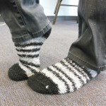 comfy socks to wear in a show booth