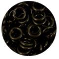 Black Rubber Jump Rings