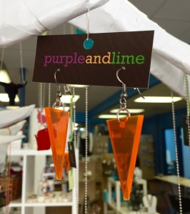 purple and lime jewelry