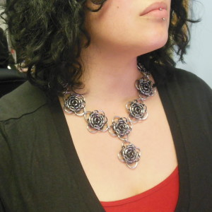 chainmaille victorian necklace