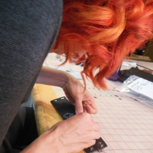 sewing metal onto leather cuff