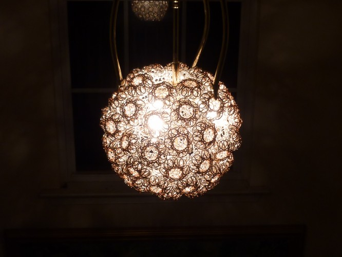 chainmaille lantern globe with light
